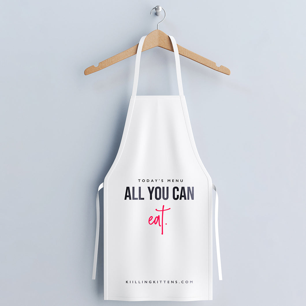 All You Can Eat Apron - Pink