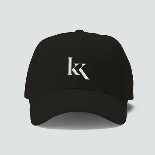 KK Cap - White logo on black