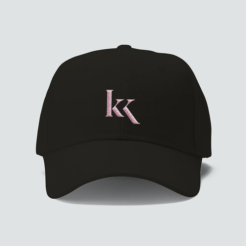 KK Cap - Pink logo on Black