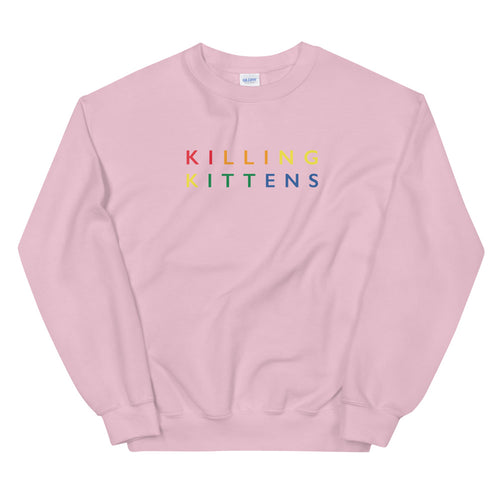 Killing Kittens PRIDE Sweatshirt in Pink