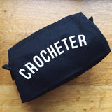 CROCHETER Project Bag/Pencil Case - Cotton Zip Up Bag