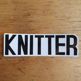 Stickers - KNITTER YARNIVORE CROCHETER MAKER STITCHER CRAFTER