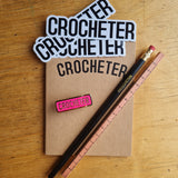 Sticker x3, Notebook, Pencil, Carpenters Pencil and Enamel Badge
