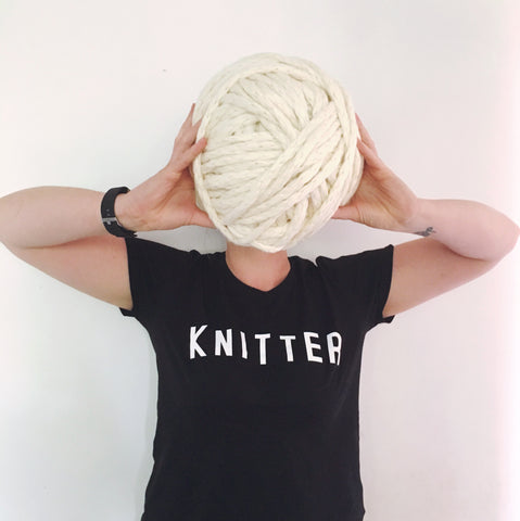 Organic cotton tshirt for knitters
