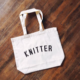 organic cotton market bag - knitter