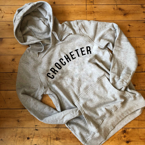 CROCHETER Hoodie - 100% Organic Fairtrade Cotton
