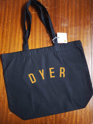 DYER Bag - Organic Cotton Tote Bag Black