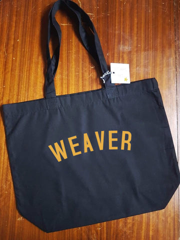 WEAVER Bag - Organic Cotton Tote Bag Black