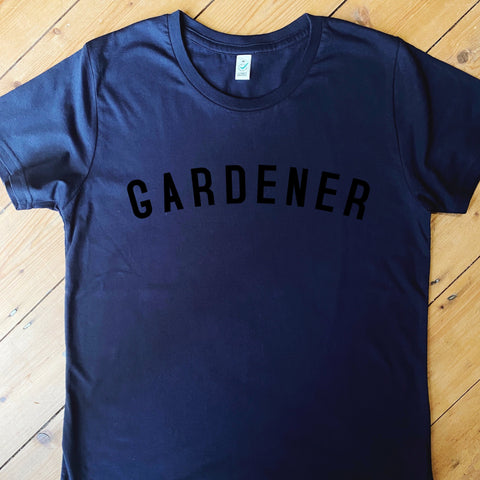 GARDENER - Navy - T Shirt - Women's - 100% Organic Fairtrade Cotton