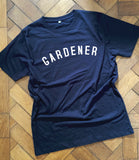 GARDENER - Navy - T Shirt - Unisex - 100% Organic Fairtrade Cotton