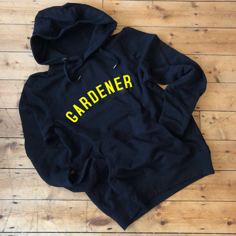 GARDENER Hoodie - Black - 100% Organic Fairtrade Cotton