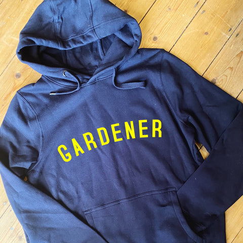 GARDENER Hoodie - Navy - 100% Organic Fairtrade Cotton