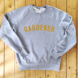 GARDENER - Grey - Sweatshirt - 100% Organic Fairtrade Cotton -