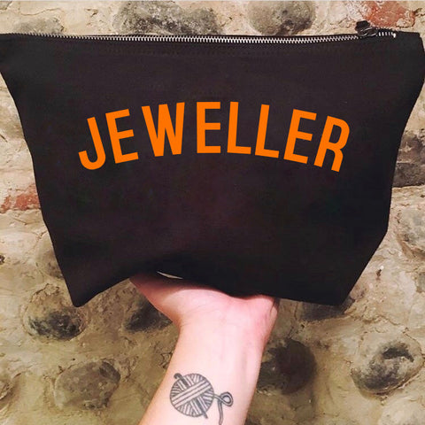 JEWELLER Project Bag - Cotton Zip Up Bag