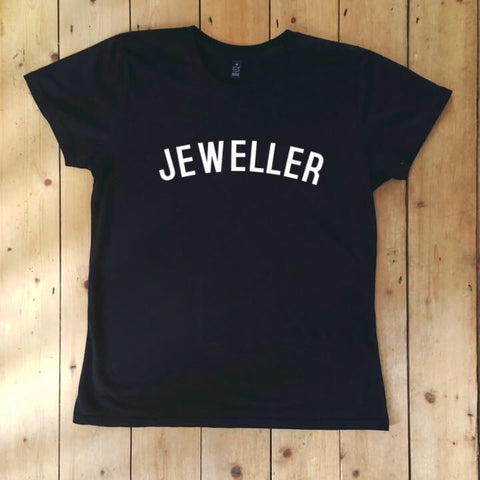 JEWELLER T Shirt - womens - 100% Organic Fairtrade Cotton