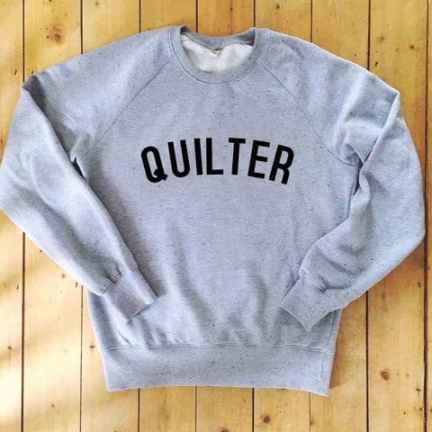 QUILTER Sweatshirt - 100% Organic Fairtrade Cotton -