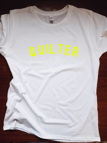 QUILTER T Shirt - womens - 100% Organic Fairtrade Cotton