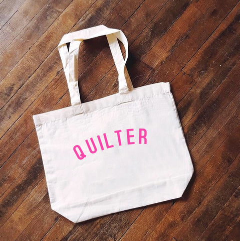 QUILTER Bag - Organic Cotton Tote Bag