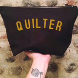 QUILTER Project Bag - Cotton Zip Up Bag