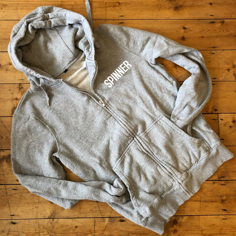 SPINNER Zip Up Hoodie - 100% Organic Fairtrade Cotton