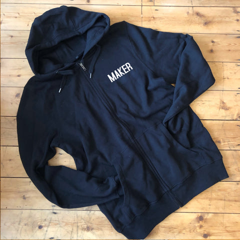 MAKER Zip Up Hoodie - 100% Organic Fairtrade Cotton
