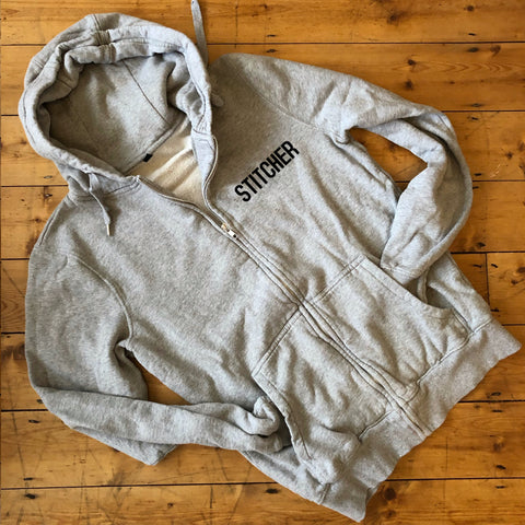 STITCHER Zip Up Hoodie - 100% Organic Fairtrade Cotton