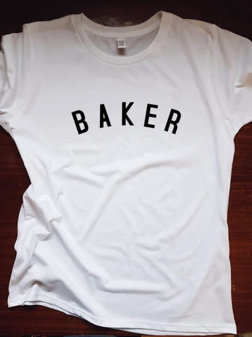 BAKER T Shirt - womens - 100% Organic Fairtrade Cotton