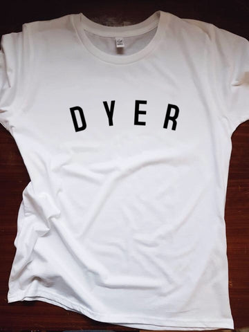 DYER T Shirt - womens - 100% Organic Fairtrade Cotton