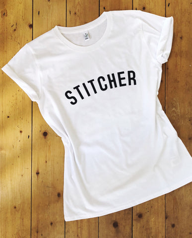 STITCHER T Shirt - womens - 100% Organic Fairtrade Cotton