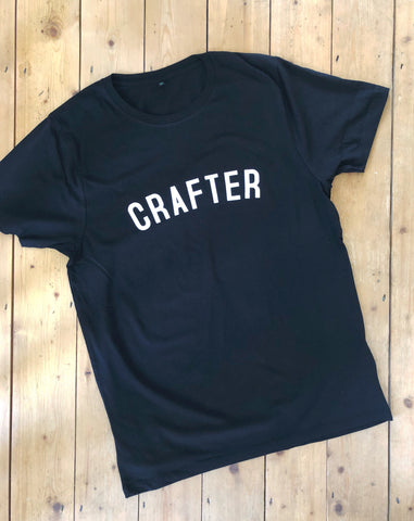 CRAFTER T Shirt - Unisex - 100% Organic Fairtrade Cotton