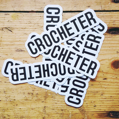 Stickers - CROCHETER KNITTER YARNIVORE - set of 6