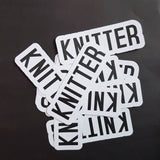 Stickers - KNITTER YARNIVORE CROCHETER - set of 3