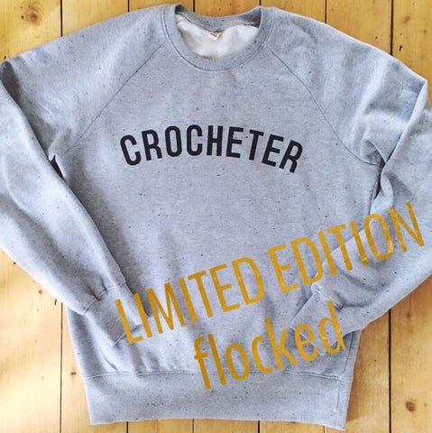 Limited Edition - FLOCKED Sweatshirt - 100% Organic Fairtrade Cotton -