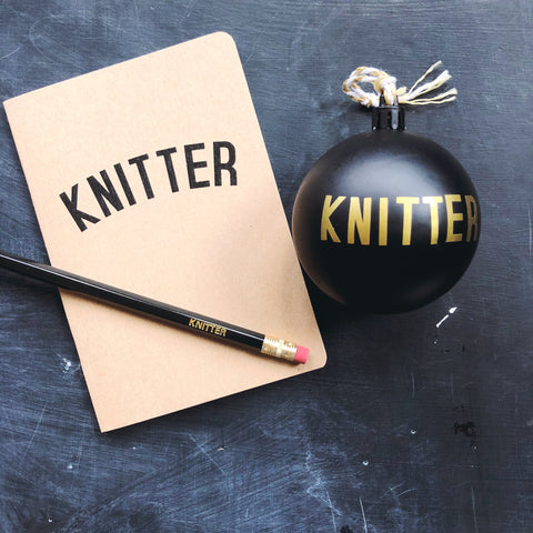 Bauble, Notebook, Pencil, Bundle - KNITTER, CROCHETER or YARNIVORE