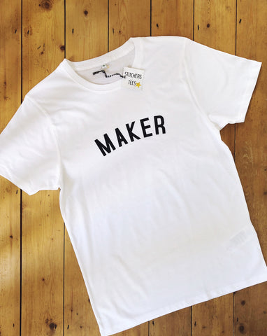 MAKER T Shirt - Unisex - 100% Organic Fairtrade Cotton