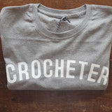 CROCHETER T Shirt - Unisex - 100% Organic Fairtrade Cotton