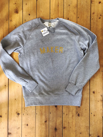 MAKER Sweatshirt - 100% Organic Fairtrade Cotton