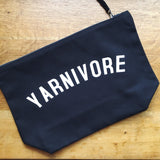 YARNIVORE Project Bag - Cotton Zip Up Bag