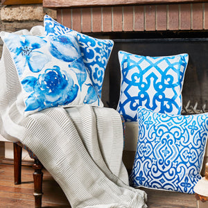Blue Sky Throw Pillow Cover