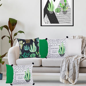 Cactus Throw Pillow Cover