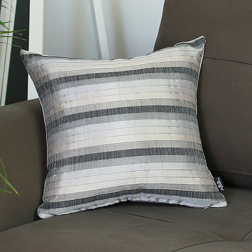Jacquard Stripe  Decorative Throw Pillow Cover Home Decor 17''x 17''