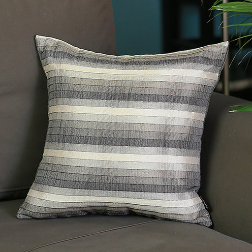 Jacquard Brown Stripe Decorative Throw Pillow Cover Home Decor 17''x 17''