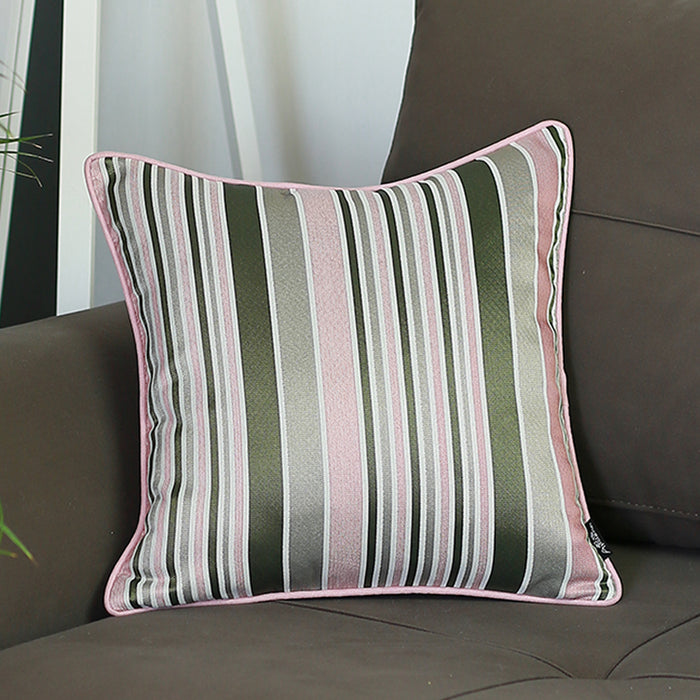 Jacquard Stripe Mood Decorative Throw Pillow Cover Home Decor 17''x 17''