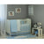 3 Piece Crib Bedding Set, Blue