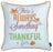 "Fall Season Thanksgiving Thankful Gingham Decorative Throw Pillow Cover 18""x 18"" (2 pcs in set)"
