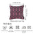 Jacquard Purple Geo Decorative Throw Pillow Cover Home Decor 17''x 17''