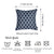 Jacquard Indigo Decorative Throw Pillow Cover Home Decor 17''x 17''