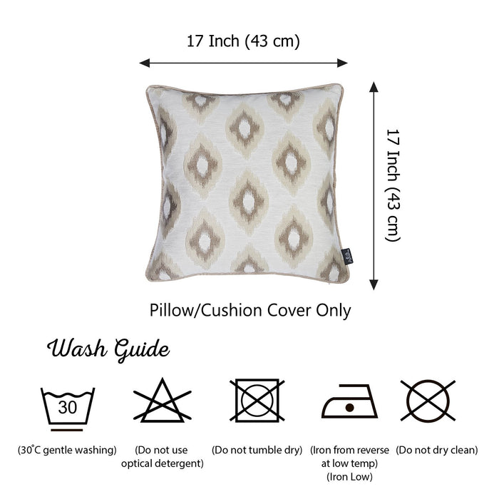 Jacquard Chic Brown  Decorative Throw Pillow Cover Home Decor 17''x 17''