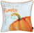 Fall Season Thanksgiving Pumpkin Quote Square Printed Decorative Throw Pillow Cover Set 18''x 18'' (2 pcs in set)