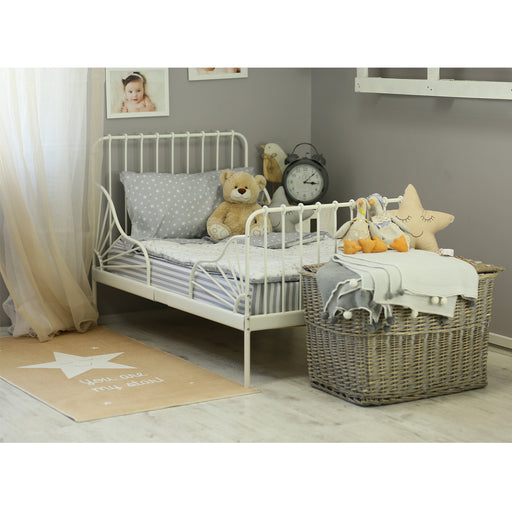3 Piece Toddler Bedding Set, Gray